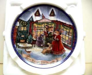 Christmas Primrose Hill plate SUSAN WHEELER CRESTLEY CO