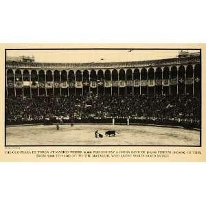 De Toros Bull E. Galloway   Original Halftone Print