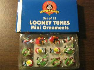 Set of 12 Mini Looney Tunes Christmas Ornaments NIB