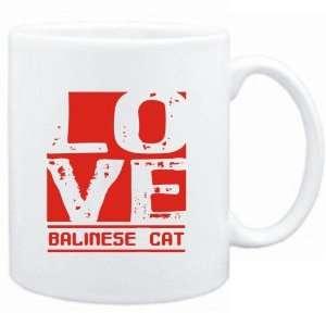 Mug White  LOVE Balinese  Cats