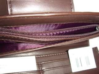 ~Dark Plum~Ashley Patent Leather Slim Envelope Wallet 46309