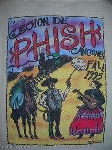 Phish T Shirt  VTG Style 1995 Fall Tour  Pollock