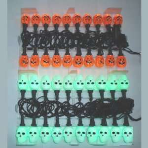 20 Light Pumpkin and Skull LED Light Set Case Pack 48