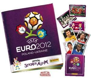 EURO 2012 OFFICIAL PANINI STICKER ALBUM COLLECTION   STICKERS & ALBUMS