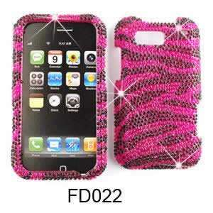 Motorola Defy MB525 Full Diamond Crystal, Pink Zebra Hard