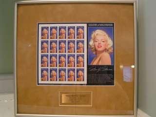 Marilyn Monroe Legends of Hollywood Stamp 1995 Matted & Framed