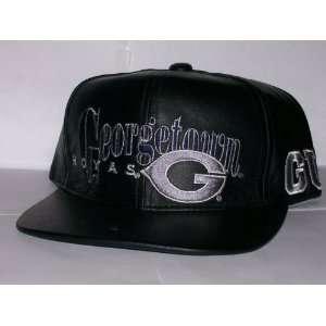 Hoyas Vintage Black Leather Strap Back Hat Cap