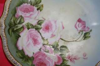 RARE SIGNED FANN ROYAL AUSTRIA ROSES HANDPAINTED Plate
