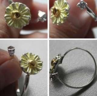 2012 Women Fashion Rhinestone Sweet Cute Daisy Flower Ring New