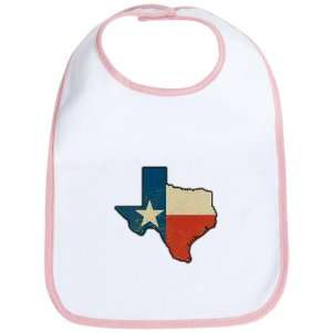 Baby Bib Petal Pink Texas Flag Texas Shaped Everything