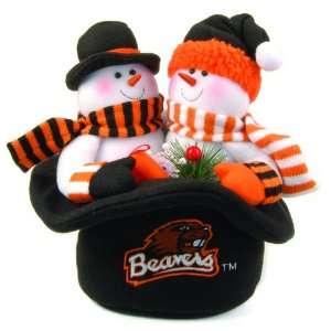 12 NCAA Oregon State Beavers Plush Snowmen Top Hat