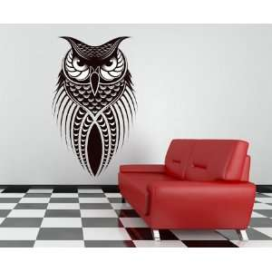 Large Owl Vinyl Wall Decal Home Decor 28x44 Semi Permanent Removable