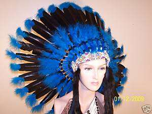 Native War Bonnet Feather Headdress, Reproduction