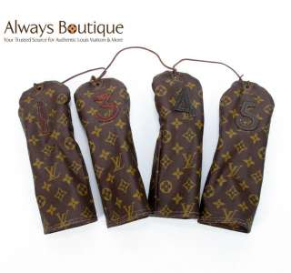 Authentic Louis Vuitton Vintage Monogram Protege bois Golf Club Covers