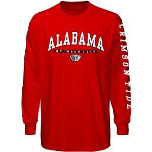 Crimson Tide Crimson Mascot Bar Long Sleeve T shirt