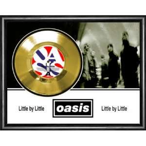Oasis Little By Little Framed Gold Record A3 Musical Instruments