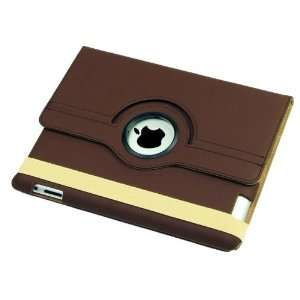 Stand (BROWN) Leather Case for Apple Ipad 2 Smart Cover for iPad 2