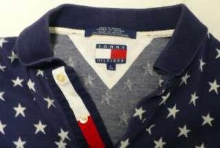 Hilfiger Polo Shirts Red White Blue Stars Patriotic Lot Size L