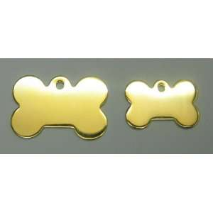 Gold Plated Bone Dog Pet ID Tags