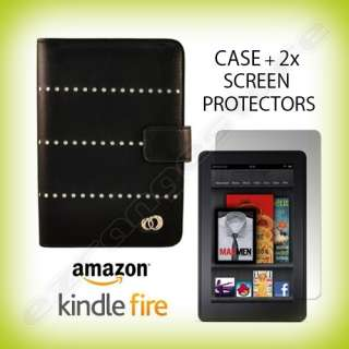 Case Cover Jacket + 2x Screen Protectors for  Kindle Fire Tablet