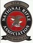 Official NRA Mylar Decal   Life Member   Window Bumper Sticker   Gun