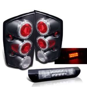 Eautolights 02 06 Dodge Ram Black LED Tail Lights+led 3rd Brake Brand