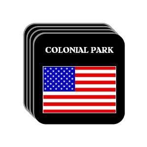 US Flag   Colonial Park, Pennsylvania (PA) Set of 4 Mini