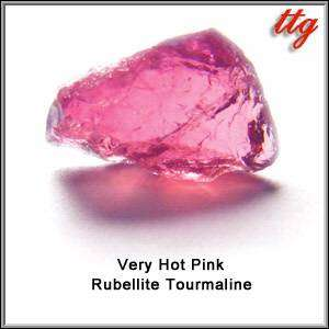 Intense Very Hot Pink Rubellite Tourmaline Facet Rough