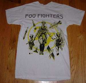 FOO FIGHTERS White Shirt GAS MASK FAMILY many sizes