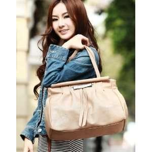 Bag Handbag Tote Satchel Fashion Women Flod Tassel New Apricot 170340
