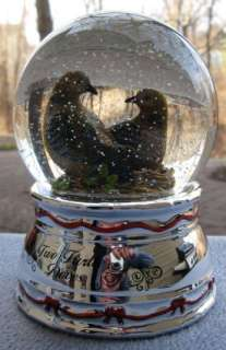 Towle 12 Days Christmas TWO Turtle Doves 2nd Edition Snow Globe New in