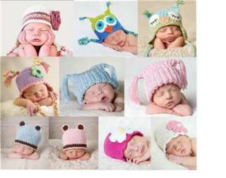 Newborn baby beanie owl teddy ears 100% cotton girl knitted boy hat