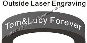 outside engraving tungsten ring sample