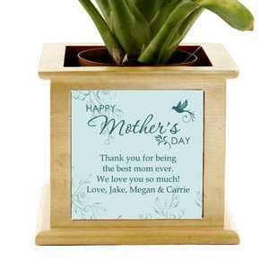 Mothers Day Personalized Wooden Planter Patio, Lawn