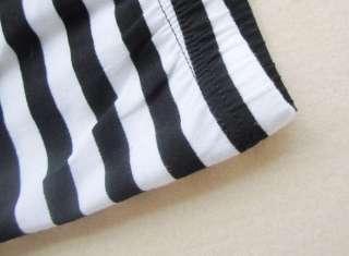 XMAS Gift Black&White Horizontal Stripes Leggings Tight Women Pants