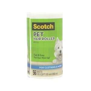 Scotch Pet Hair Lint Roller 56 Sheet Refill