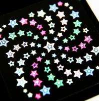 Nail Tips Manicure 3D Art Decal Sticker Colorful Stars Made in Korea