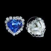 Blue Romantic Titanic Heart of Ocean Necklace Earring Set Swarovski