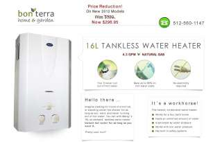 Tankless Hot Water Heater   Natural Gas   4.3 GPM 4 Bath Whole House