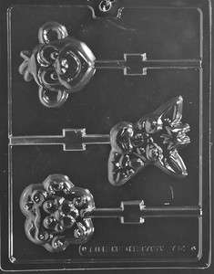 ANIMAL FACES LOLLY MONKEY LION GIRAFFE LARGE Chocolate Candy Mold 3 X