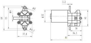 12V DC Mini Brushless Magnetic Self priming Hot Water Pump High Temp