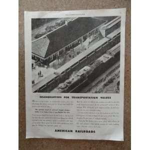 depot)Original vintage 1946 The Saturday Evening Post Magazine Print