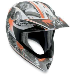 MT X Helmet, White/Orange Evolution, Size: 2XL, Helmet Type: Offroad