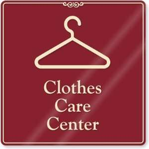 Clothes Care Center (with hanger symbol) ShowCase Sign, 9