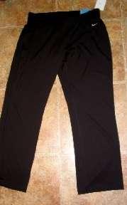 Misses Nike Black Loose Fit Athletic Yoga Pants XL NEW