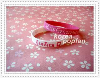 SNSD girls Generation Support wristband X2 White & Pink