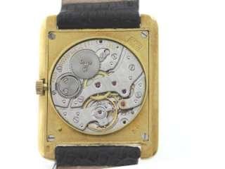 Authentic Bueche Girod Solid 18K Yellow Gold Diamonds Manual Winding