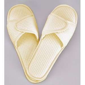 Cotton Waffle Slippers   Large, Beige Health & Personal