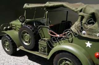 Vintage Hand Made Metal Art Bar Decor 116 WWII Dodge Willys Jeep WC57