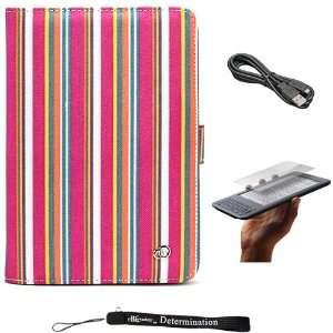 Pink Premium Nylon Flip Portfolio Protection Cover Case